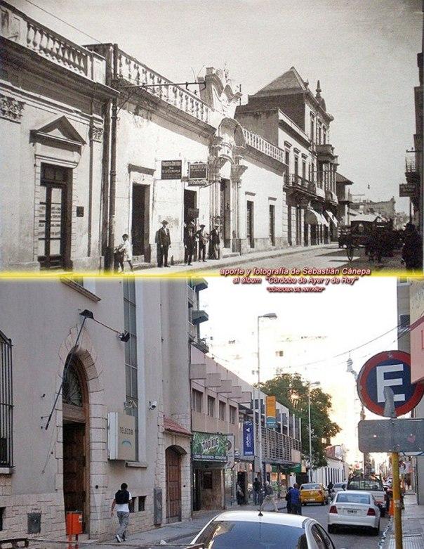 Alvear en su primera cuadra hacia la esquina de Rosario de Santa Fe