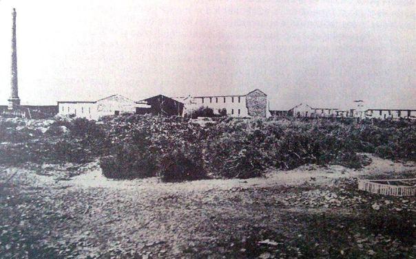 Antigua fábrica de porcelana, sobre calle Rioja, en el 1887