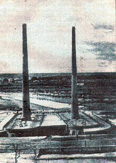 Antigua vista de los Hornos de Cal Serrano, siglo 19 Bº San Vicente