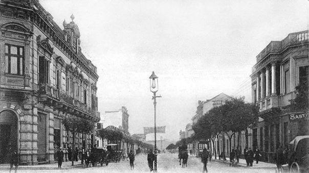 Av. General Paz en su primer cuadra, a comienzos del 1900
