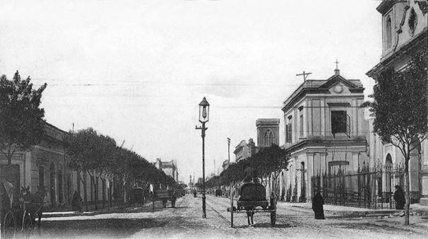 Av. Velez Sarsfield en su primer cuadra, año 1895