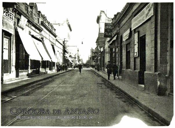 calle Colón y Av. Gral. Paz en el año 1927
