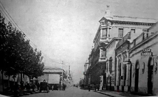 Calle San Jeronimo, frente de la Plaza San Martin en 1890