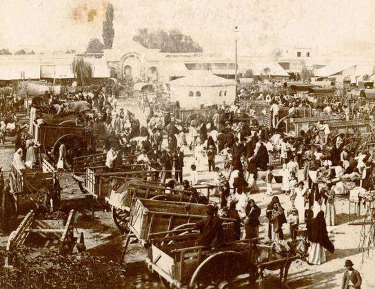 carretas en el mercado en 1890