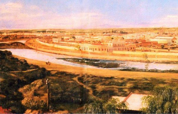 cuadro de Honorio Mossi e ilustra a Córdoba de 1895 -