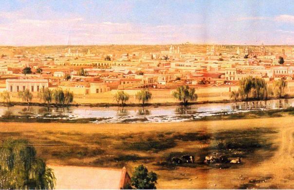 cuadro de Honorio Mossi e ilustra a Córdoba de 1895 --