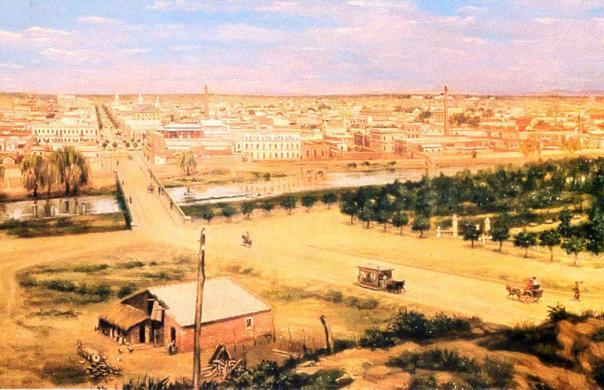 cuadro de Honorio Mossi e ilustra a Córdoba de 1895 ---