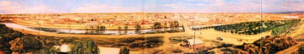 cuadro de Honorio Mossi e ilustra a Córdoba de 1895