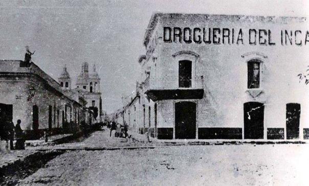 Drogueria del Inca, actual esquina de Buenos Aires y San Juan