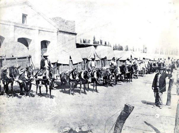 El mercado de pulgas en Barrio Güemes, 1880