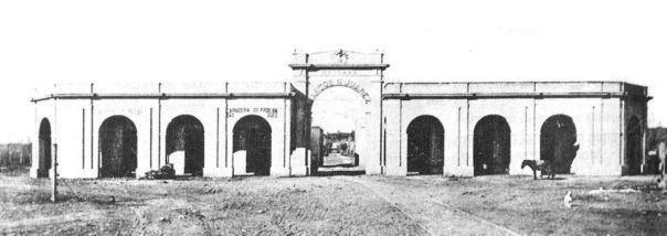 El Mercado Marcos Juarez del barrio San Vicente, en el año 1886