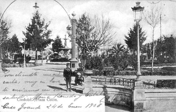 Postal de la Plaza Colón de finales de 1890
