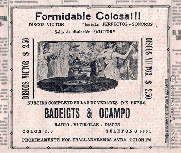 publi 1929, de discos, radios y victrolas.