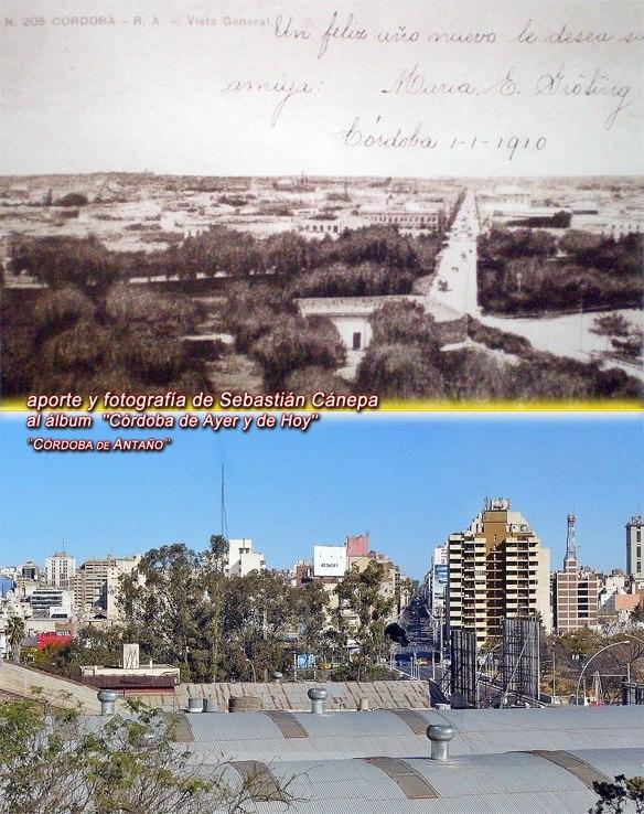 Roque Saenz Peña, destacándose el puente Juarez Celman -actual Centenario