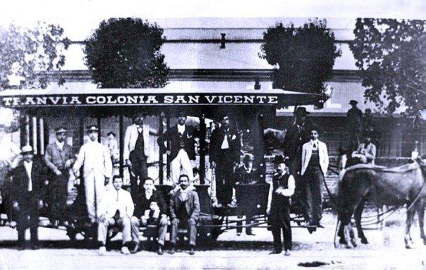 Tranvia Colonia San Vicente, 1881