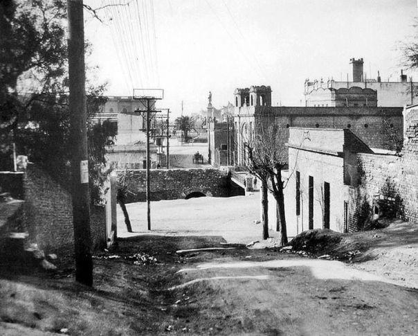 vista hacia el este de La Cañada a la altura del Blvd. San Juan 1927