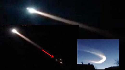 Extraños objetos explota en los cielos de Rusia dejando una extraña estela